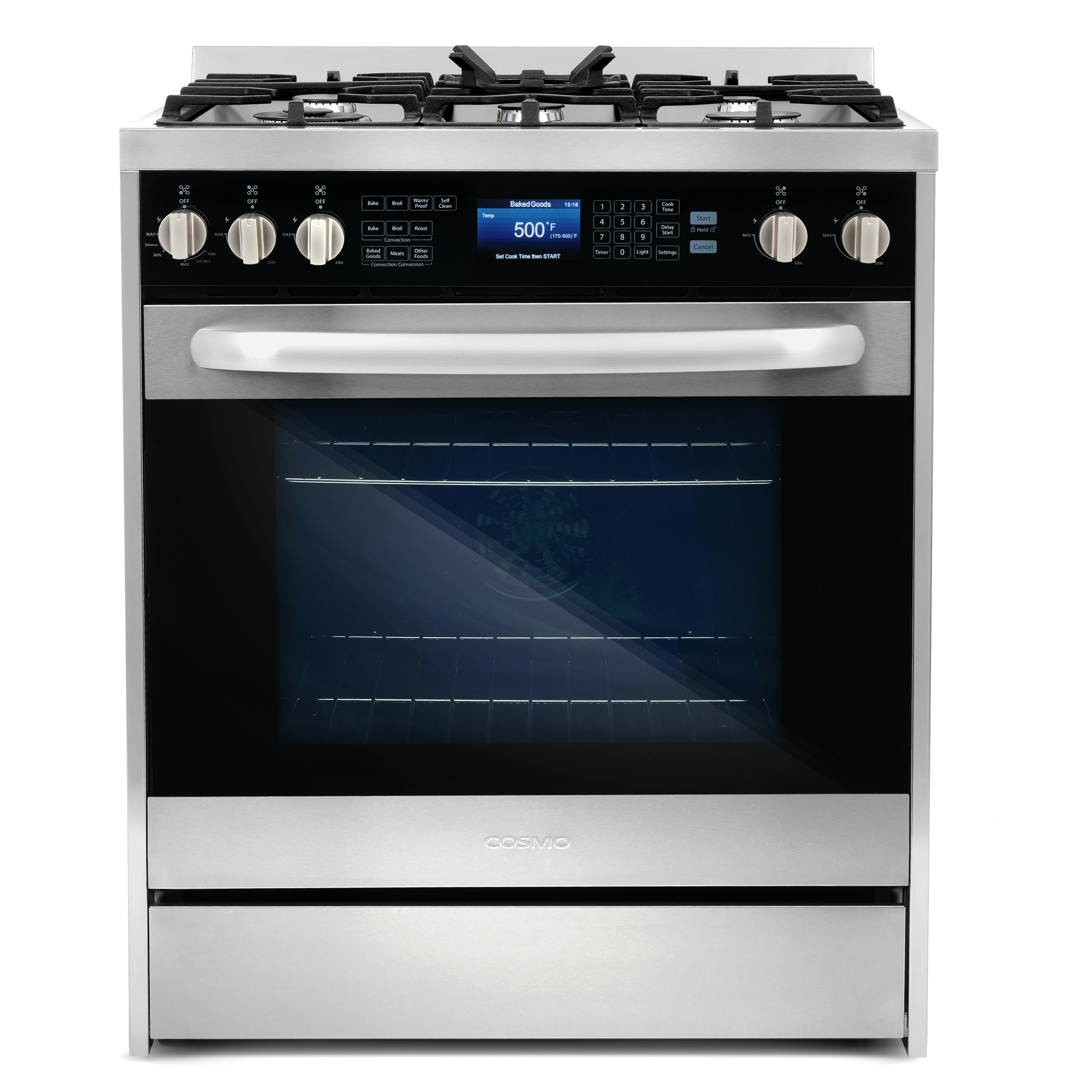 """COS-305DFSC 30"""" Dual Fuel Range with 7 Function Convection Oven"""
