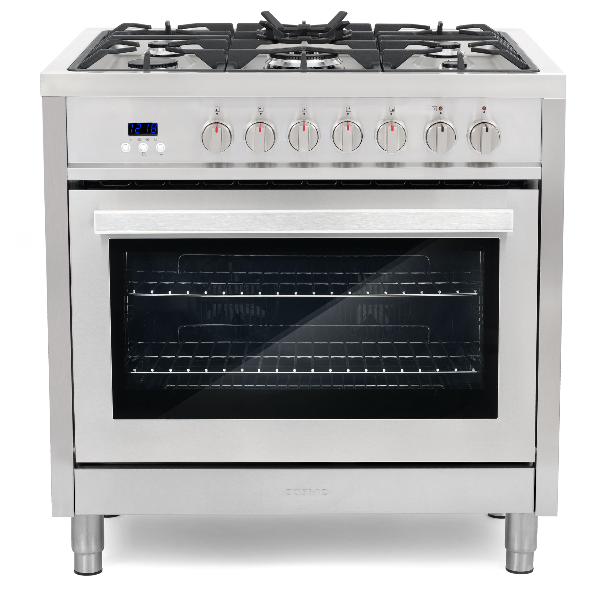 """COS-F965 36"""" Dual Fuel Range With 5 Sealed Gas Burners & Turbo True European Convection Oven"""